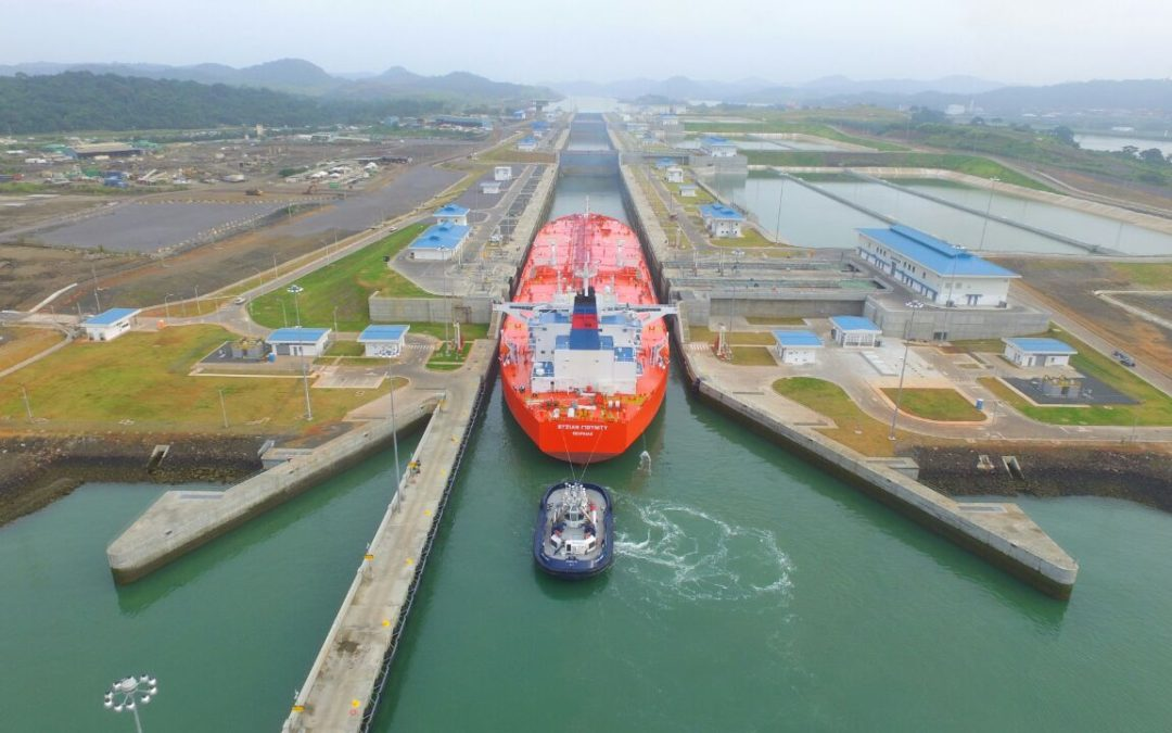 Mjolner Suezmax the first crude oil tanker to transit the expanded Panama Canal